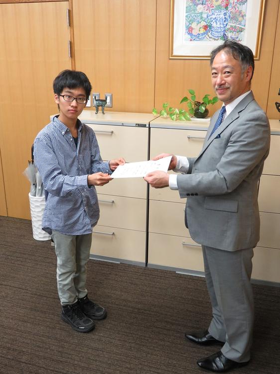 第13回日本地学オリンピック本選で金賞を受賞